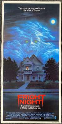 Fright Night Movie Poster Original Daybill 1985 Chris Sarandon Roddy McDowall