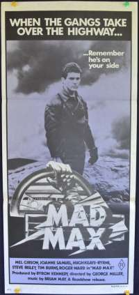 Mad Max 1979 movie poster Mel Gibson Original first print Daybill