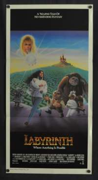 Labyrinth Daybill Poster Original 1986 Jennifer Connelly David Bowie Jim Henson