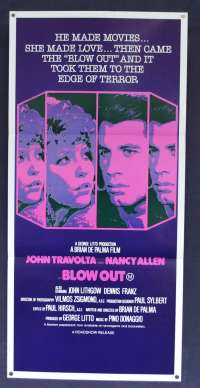 Blow Out Movie Poster Original Daybill John Travolta Nancy Allen Brian De Palma