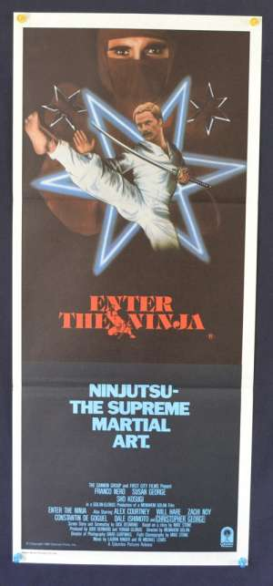 Enter The Ninja 1981 Daybill Movie poster Franco Nero Sho Kosugi