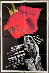 The Rose 1979 One Sheet Movie Poster Bette Midler Alan Bates