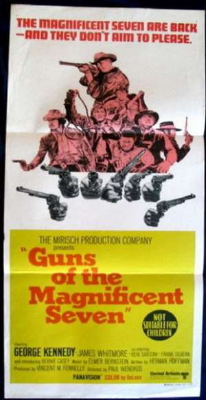 Guns Of The Magnificent Seven Movie Poster Original Daybill 1969 George Kenndy