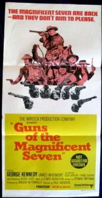 Guns Of The Magnificent Seven 1969 George Kenndy Daybill movie poster