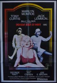 Some Like It Hot 1959 movie poster 1980 Re-Issue Marilyn Monroe One Sheet