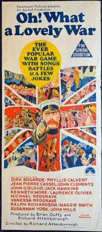 Oh What A Lovely War Poster Original Daybill 1969 Kenneth Moore Vintage