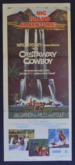 The Castaway Cowboy Poster Original Daybill 1974 Disney James Garner