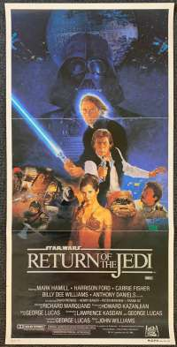 Return Of The Jedi Poster Original Daybill 1983 Style B Sano artwork