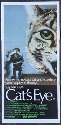 Cat's Eye 1985 Daybill movie poster Drew Barrymore James Woods Stephen King