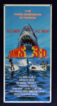 Jaws 3 Dennis Quaid Bess Armstrong Daybill movie poster