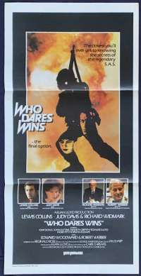 Who Dares Wins Daybill Poster 1982 Aka The Final Option Lewis Collins SAS