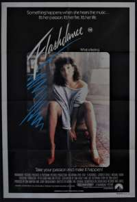 Flashdance movie poster One Sheet Jennifer Beals Irene Cara