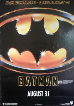 Batman Michael Keaton (Rolled) One Sheet Australian movie poster