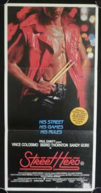 Street Hero 1984 movie poster RARE Daybill Dragon Leo Sayer
