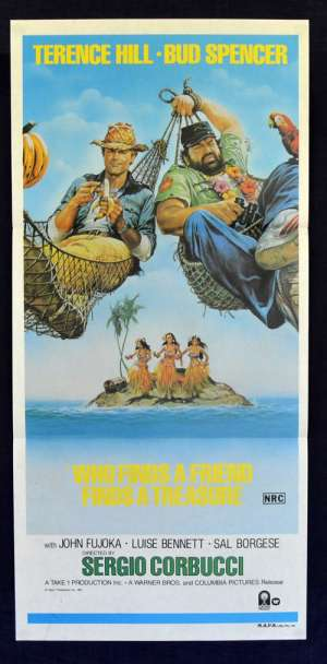 Who Finds A Friend Finds A Treasure 1981 Daybill Poster Terence Hill Bud Spencer