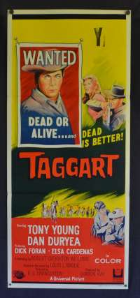 Taggart Poster Original Daybill 1964 Tony Young Dan Duryea David Carradine