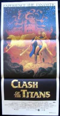 Clash Of The Titans Laurence Olivier Claire Bloom Daybill Poster