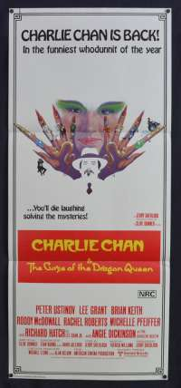 Charlie Chan And The Cruse Of The Dragon Queen Daybill movie poster