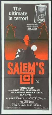 Salem's Lot 1979 Daybill Movie poster David Soul Tobe Hooper