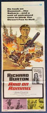 Raid On Rommel Poster Original USA Insert 1971 Richard Burton Desert Fox