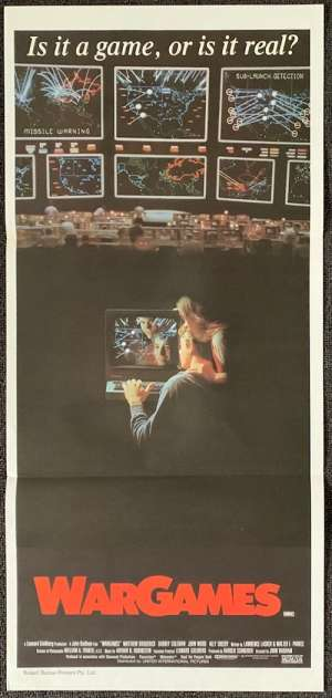 War Games Poster Original Daybill 1983 Matthew Broderick Ally Sheedy