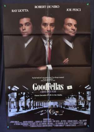 Goodfellas Poster Robert De Niro Martin Scorsese International One Sheet