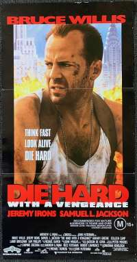 Die Hard: With a Vengeance 1995 Daybill movie poster Bruce Willis Samuel L. Jackson