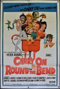 Carry On Round The Bend Poster Original One Sheet 1971 Sid James Kenneth Williams