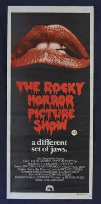 The Rocky Horror Picture Show Movie Poster Original Daybill Lips Style Tim Curry