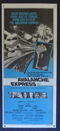 Avalanche Express Daybill Movie poster