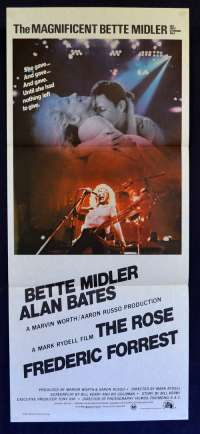 The Rose 1979 Daybill Movie Poster Bette Midler Alan Bates