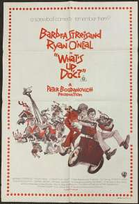 What's Up Doc Poster Original One Sheet 1972 Barbra Streisand Ryan O'Neal