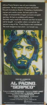 Serpico - Al Pacino Australian Daybill Movie poster