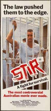 Stir 1980 Daybill movie poster Bryan Brown Max Phipps Prison