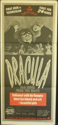 Dracula Has Risen From The Grave Australian Daybill movie poster