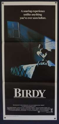 Birdy 1984 Daybill movie poster Nicolas Cage Matthew Modine
