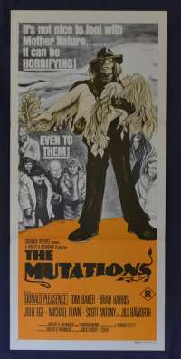 The Mutations Movie Poster Original Daybill 1974 Aka The Freakmaker Tom Baker