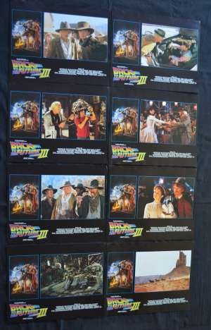 Back To The Future III Lobby Card Set USA 11x14 Michael J Fox