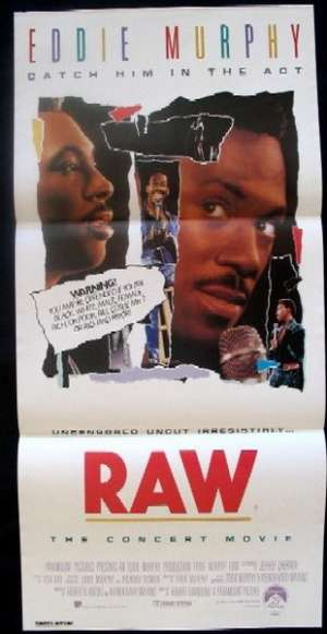 Eddie Murphy Raw 1987 Rare Daybill movie poster Eddie Murphy Stand Up
