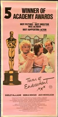 Terms Of Endearment 1983 Rare Rolled Daybill movie poster Shirley Maclaine Jack Nicholson
