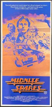 Midnite Spares 1983 Daybill movie poster Bruce Spence Max Cullen