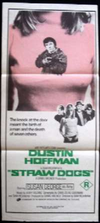 Straw Dogs 1971 Daybill movie poster Rare Breast artwork Dustin Hoffman