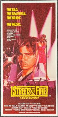 Streets Of Fire Daybill Movie poster Michael Pare Diane Lane