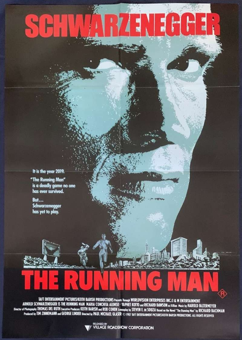 All About Movies - The Running Man 1987 movie poster One ...