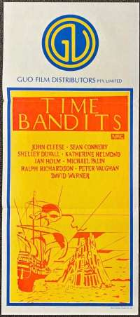 Time Bandits Poster Original Daybill Duo Tone Art 1981 John Cleese Michael Palin