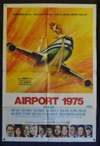 Airport 75 Poster Original One Sheet 1974 Charlton Heston Disaster Film