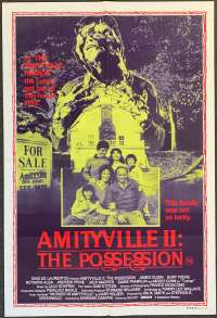 Amityville II The Possession Movie Poster Original One Sheet 1982 Burt Young James Olson