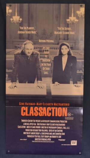 Class Action 1991 Daybill movie poster Gene Hackman Court Case