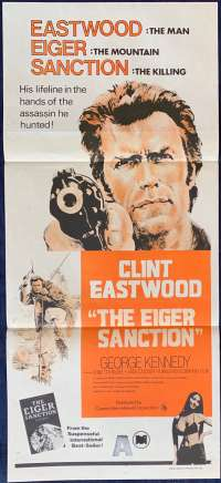 The Eiger Sanction Poster Original Daybill 1970's Re-Issue Clint Eastwood