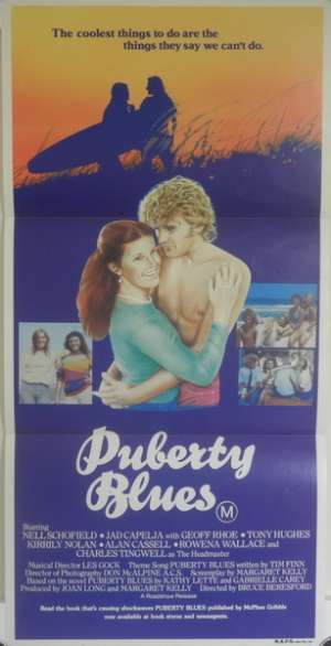 Puberty Blues 1981 Movie Poster Daybill Bruce Beresford Surfing Girls